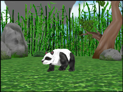 载入会动的熊猫