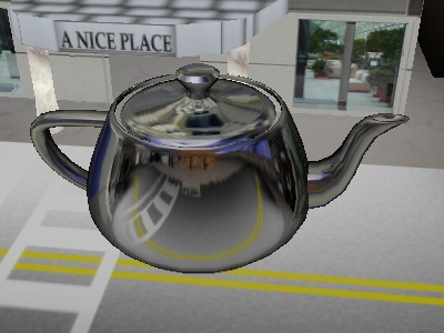 The teapot with sphere map