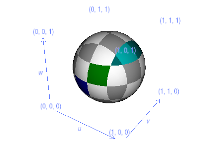 A sample 3-D texture on a sphere.
