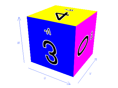 A solid-mapped cube