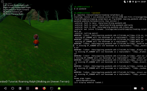 Roaming Ralph running on an Android tablet
