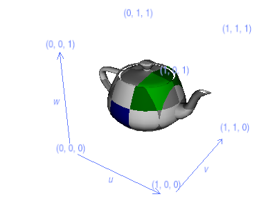 A sample 3-D texture on a teapot.