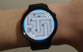 Ball in Maze running on an Android watch with Cub3D